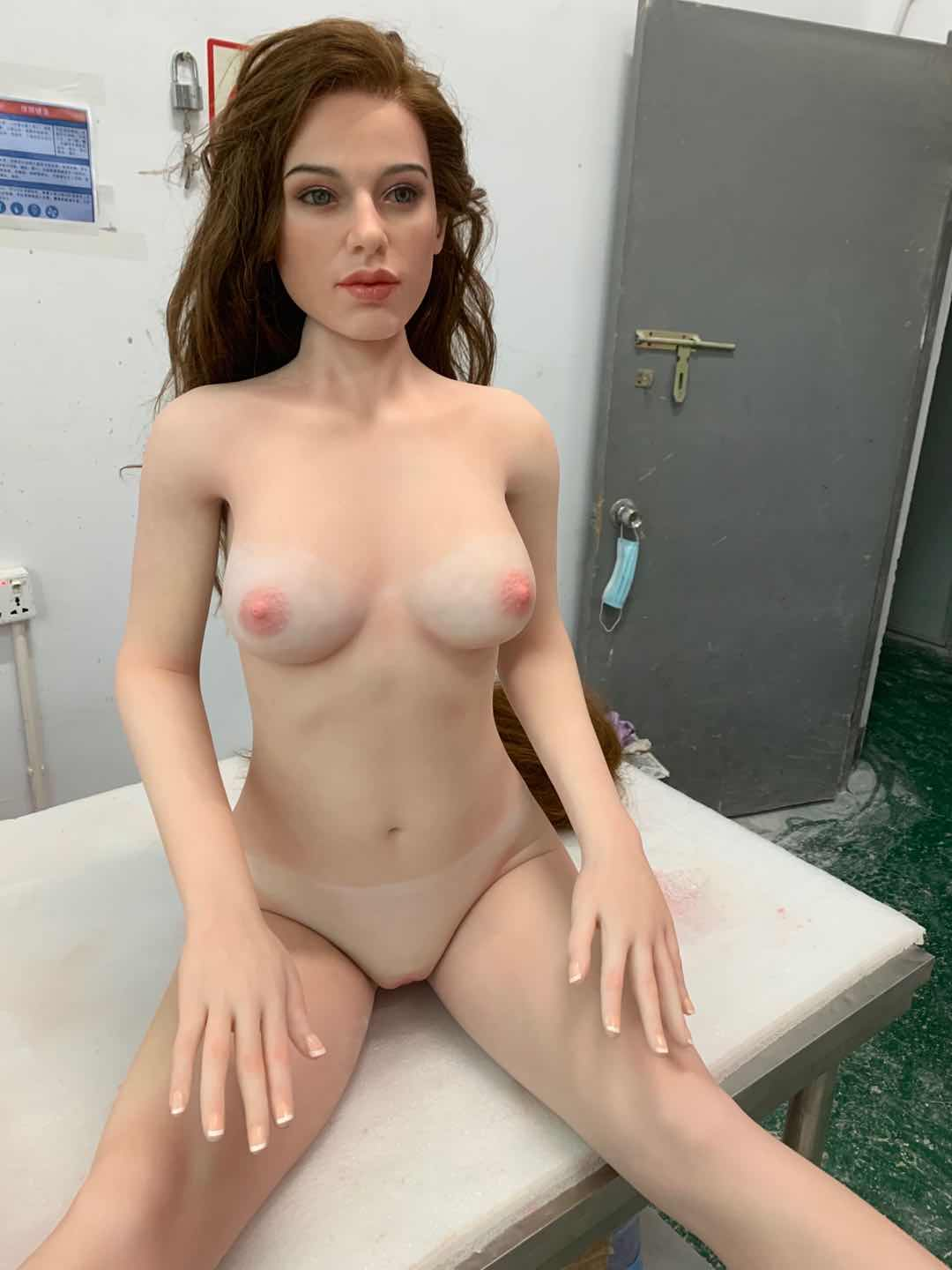 Starpery 156cm Amy chubby fat high realistic silicone head TPE body sex doll